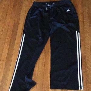 Full length black Adidas Sweatpants size large